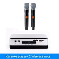 micrófonos chinos al por mayor-Máquina de reproducción de karaoke HDD chino Con 2TB de disco duro incluye 42k canciones más sistema de karaoke de micrófono inalámbrico