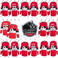 ottawa senador jersey al por mayor-65 Erik Karlsson Jersey 2018 Temporada 100a Classic 61 Mark Stone 68 Mike Hoffman Ottawa Senators Mens Womens Youth Custom Hockey Jerseys