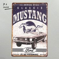 Blechschilder Ford Mustang Classic Pferd 30x20 cm Blechschild  Schild Blechschilder Sign USA Moderne Blechschilder (ab 1960)