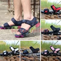 yeni platform flip flop'ları toptan satış-2018 Chaussures Yaz Sandalet Unisex Cork Flip-Flop Yaz Spor Terlik Bayan Erkek Kırmızı Siyah Yeni 2.0 Tasarımcı Sandal Sneakers
