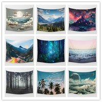 Wholesale beach art decor online - Bohemian Style Beach Towel Home Furnishing Tapestry Living Room Decor Wall Art Hanging Polyester Yoga Home Cloth my jj
