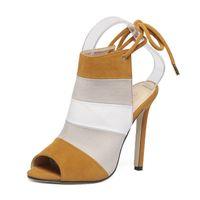 ingrosso banda n-arcobaleno signora stiletto tacco alto 8 cm scarpe da donna designer sandali scarpe di lusso scarpe da donna di lusso sandali firmati