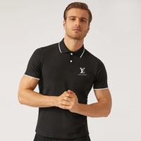 ropa de calle americana al por mayor-Verano de lujo camiseta americana diseñador Polo camisa de calle alta ropa de impresión de alta calidad del Norte marca de polo de los hombres