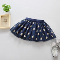 Wholesale Blue Tutu Ribbon Skirt - Star Baby Girls tutus skirts Child Dancewear Cute Chiffon Tutu Kids Princess Skirt latest skirt design pictures