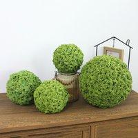ingrosso green moss-GIAPPONE Pianta artificiale Milan Ball Simulation Green Moss Ball Palla di erba Decorazione del partito Set Wedding Scene Decoration