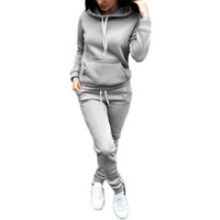 fatos de treino elegantes venda por atacado-Hirigin 2018 Mulheres conjunto de duas peças de treino para as mulheres elegante top e calças set das mulheres ternos de treino ocasional de fitness verão roupas