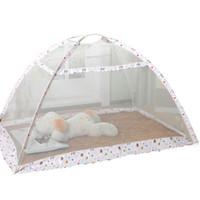 Wholesale folding yurt resale online - Folding Children Bottomless Mosquito Net Easy Installation Yurt Baby Mosquito Curtain