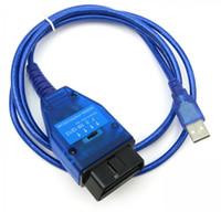 macho de 16 pinos venda por atacado-Vag KKL 409 USB Para 409.1 FT232RL Chip de Interface USB OBDII Plug J1962 16-Pin Masculino USB Porta Habilitada 3 Cores 5 Pçs / lote