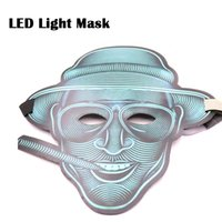 ingrosso maschera audio-Cool Face Full Sound Control Voce LED Light Mask Glossy Cosplay Party Mask Miglior regalo di Halloween