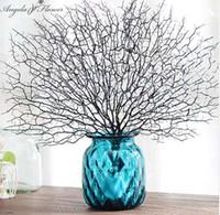ingrosso fiori di corallo artificiali per le nozze-Di alta qualità Peacock Coral Branch piante artificiali per la decorazione domestica di nozze di plastica fiori artificiali decorazioni per la casa