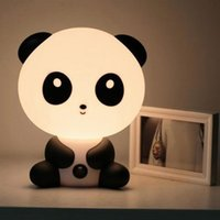 ingrosso luci di notte panda-LED Nightlight Cartoon Animal Night Light Cute Panda Lampada da tavolo per bambini Camera da letto LED Night Lamp