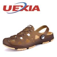 пластиковые тапочки мужчины оптовых-2017 Summer Men Sandals Men's Slippers Shoes Outdoor Plastic Beach Sandalias Casual Breathable Home Slippers Men Shoes Zapatos