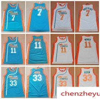 Wholesale Anti Coffee - Men's Semi Pro Movie Flint Tropics 33 Jackie Moon Jersey 7 Coffee Black 11 ED Monix Green White Stitched Basketball Jerseys