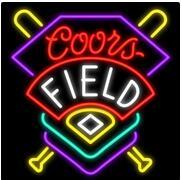 Wholesale coors neon signs - COORS FIELD Neon Sign Real Glass Tube Bar Pub Store Business Advertising Home Decoration Gift Display Metal Frame Size 24''X20''