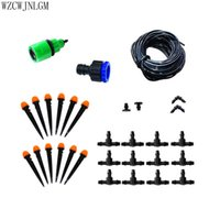 Wholesale connector 7mm for sale - Garden Drip irrigation sprinkler irrigation system Portable Sprinkler Kit m hose with mm tee and connector nozzle set