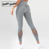 sıkı kadın kıyafetleri toptan satış-Spor Giyim Moto Kadınlar Için Mesh Yoga Pantolon Yüksek Bel Legging Spor Giyim Kadın Spor Leggins Spor Salonu Tayt Tayt