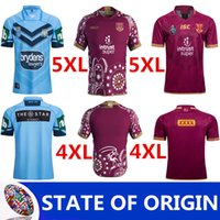 Wholesale large spandex - 2018 QUEENSLAND MAROONS JERSEYS 2018 2019 QUEENSLAND MAROONS INDIGENOUS TRAINING JERSEY NSW SOO 2018 JERSEY Extra large size S-M-4XL-5XL