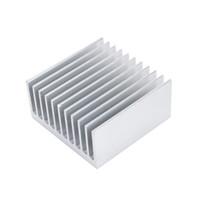 calefacción de aletas de aluminio al por mayor-Accesorios de refrigeración Disipador de calor 40X40X20mm IC HeatSink Metal Aluminio Aleta de enfriamiento Ventilador Color plateado Envío gratuito Asistencia al por mayor