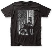 черные патриоты джерси оптовых-Капитан Америка Гражданской войны черный белый Патриот установлены Джерси футболка мужская мужчины футболка печати хлопок с коротким рукавом
