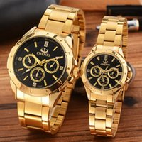 Wholesale tungsten watch diamond - 2018 AAA Luxury GENEVA Watches men Womens Diamonds gold Watches Bracelet Ladies waterproof Designer Wristwatches 3 Colors