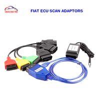 herramienta de escaneo de diagnóstico automático fiat al por mayor-Fiat ECU SCAN completo set Auto diagnóstico interfaz escáner Ecu herramienta de diagnóstico para fiat super calidad Un año calidad