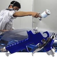 kit de kit aérographe achat en gros de-2018 Airbrush Kit Air Pistolet de Peinture de Retouche Pulvérisateur de Peinture Gravity Feed Air Brush Set 0.8mm Buse Auto Détail de Voiture Peinture HVLP