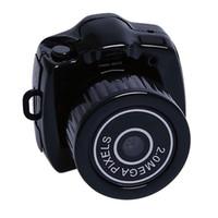 cámara de vídeo mini dv llavero al por mayor-2018 más nuevo Y2000 Mini cámara Kit DV videocámara Grabador digital Micro DVR cámara de vídeo HD cámara web pequeño pulgar cámara w / llavero
