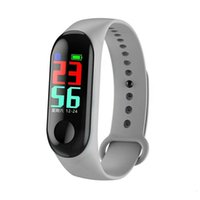 Wholesale top fitness bands resale online - M3 Smart Band Outdoor Fitness Tracker Smart Bracelet WristBands Heart Rate Blood Pressure Monitor Waterproof for IOS Android Top