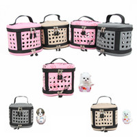 Wholesale portable kennels for sale - Group buy Pet Dog Cat Carrier Portable Side Shoulder Bag Travel Tote Hamster Cage Kennel For Hamster Small Rabbits Rats Carriers AAA887