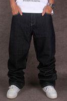 хип-хоп мешковатые штаны мальчики оптовых-Мужские Черные Мешковатые Джинсы Хип-Хоп Дизайнер Чолил Марка Скейтборд Брюки Свободный Стиль True Hiphop Rap Оптовая Джинсы Мальчик