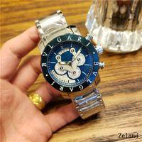 herren skelett uhrenmarken großhandel-Heiße Mann-Uhren-Luxusuhr-Marken-Edelstahlband Skeleton Vorwahlknopf-mechanische automatische Armbanduhr-Geschäfts-Geschenk für Mens passt Uhr auf