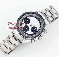 Wholesale swiss automatic movement chronograph - HOT Original Box Mens 2018 trend Blue Ceramic luxury SWISS 9300 Automatic Movement 28800bph date Chronograph White Dial Watch