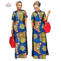 Wholesale Maxi Scarfs - 2018 african styles clothing Bohemia maxi dress Women 100% Cotton bodycon bandage Long dashiki Dress Free Head Scarf