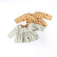 Wholesale Kids Elegant Dresses - NEW arrival Girls Kids long Sleeve Love printing spring dress kids causal 100% cotton girl elegant casual cartoon dress