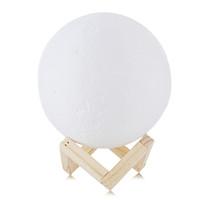 светильники для дома оптовых-Moon Light 3D печати Moon Globe Lamp, 3D Светящиеся с подставкой, Луна Луна лампы Night Light для дома Спальня Декор Дети