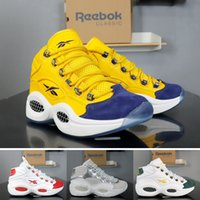 Wholesale life shoes for sale - Group buy Reebok basketball shoes Question JET LIFE for men top new mens high white red yellow Hexalite cushion breathable trainers size