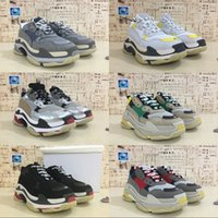 Wholesale White Color Boots - Wholesale Luxury Triple-S Designer Wrap Sneakers Men Women Running Shoes New Color Red Silver Black Grey Sports Persona Boots
