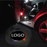 luz de sombra de laser de porta de carro venda por atacado-Para Dodge para Scania 2 PCS LEVOU Porta Do Carro Bem-vindo Luz Laser Projetor Logo Sombra Luz Do Carro-styling Decoração de Interiores de Luz Do Carro