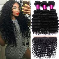 Wholesale Yaki Body - Brazilian Hair Body Wave Deep Wave Loose Straight Yaki Wet And Wavy 13x4 Full Frontal Lace Closure With Mongolian Deep Wave Human Hair