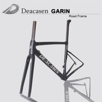 Wholesale Carbon Race Frame - EMS Free shipping carbon road frame cycling bicycle used racing frameset Frame+Fork+Seatpost+Headset+Clamp all carbon fiber T1000