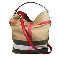 Wholesale drawstring purses - Famous Design Classical PU Leather Canvas Drawstring Women Gewen Plaid Check Bags Handbag Crossbody Shoulder Bag with Small Purse Wallet