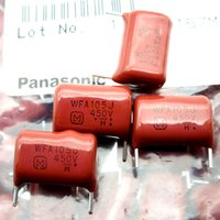пленка cbb оптовых-Япония Panasonic CBB Film Capacitor WFA105J450V 450V 1uF Foot Pitch 15мм