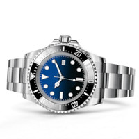 Wholesale blue ceramic dial resale online - New MM Dial Ceramic Bezel Black Watch Adjustable Strap Automatic Movement Sports Watch Sea Dweller Red Green Blue Watch Coupon