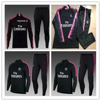 Wholesale quality soccer kits - 2018-19 PSG NEYMAR JR tracksuit training suit aaa quality CAVANI soccer Jerseys kit VERRATT paris football jacket tracksuit set