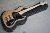Wholesale precision guitars for sale - Group buy Custom Strings Ash Body Precision Marcus Miller Signature Natural Jazz Electric Bass Guitar Maple Neck Black Pickguard