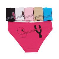 roupa interior cor de rosa bonito venda por atacado-1 PCS Calcinha Bonito Mulher Padrão Dos Desenhos Animados Rosa Briefs Moda Sexy Alta Qualidade 95% Algodão Underwear Mulher Confortável Respirável