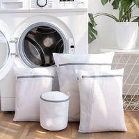 mesh-taschen zum waschen von kleidung großhandel-5Pcs Mesh-Wäschesäcke für Delikatessen mit Premium-Reißverschluss, Ravel-Aufbewahrungsbeutel, Wäschesäcke für Wäscherei, Bluse, BH, Strumpf