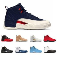 Wholesale college cotton fabric - Basketball Shoes College Navy XII 12 Vachetta Tan For Mens 12s Taxi flu game the master white black Athletic Trainers Sneakers