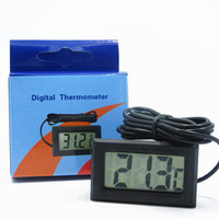 Wholesale Freezer Thermometers - Mini LCD FY-10 Digital Thermometer Temperature Sensor Fridge Freezer Thermometer -50~110C Controller GT black Professinal Tool
