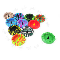 Wholesale colorful diamond shape resale online - Colorful Ashtray for Cigarettes Diamond cut circle shape silicone Ashtray Sophisticated Design for Indoor Outdoor Use